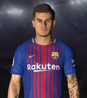 PES 2017 Faces Philippe Coutinho by Facemaker Ahmed El Shenawy