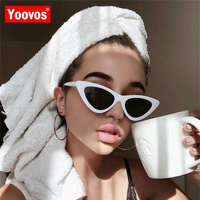 Yoovos Cateye Sunglasses | Womens Cat eye retro sunglasses