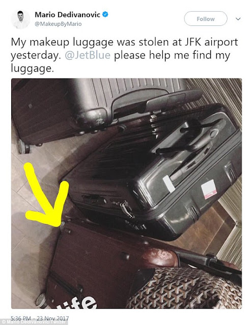 Reaching out: He took to social media to plead with the public to help him find the bag