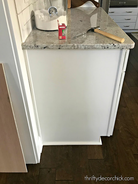 Adding custom look to sides of cabinets