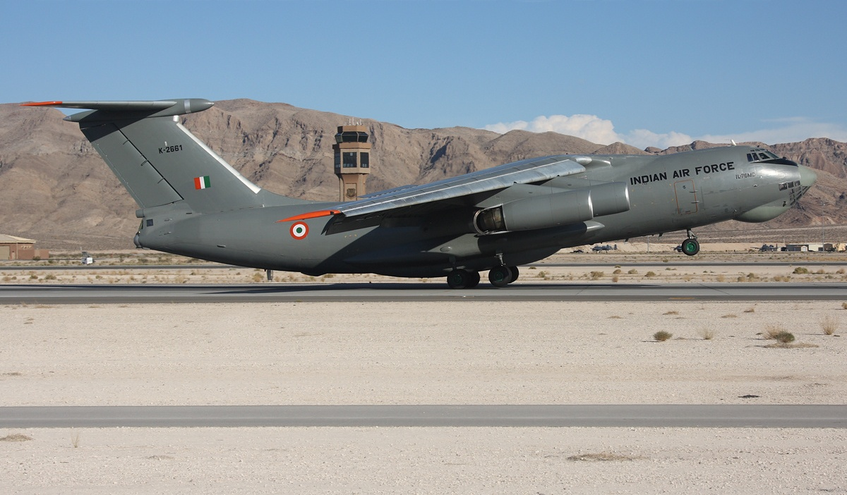 Ilyushin Il 76 Of Indian Air Force Takeoff Aircraft