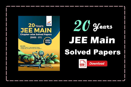 [PDF] Disha 20 Years JEE MAIN Chapter-wise Solved Papers (2002 - 21) | Download