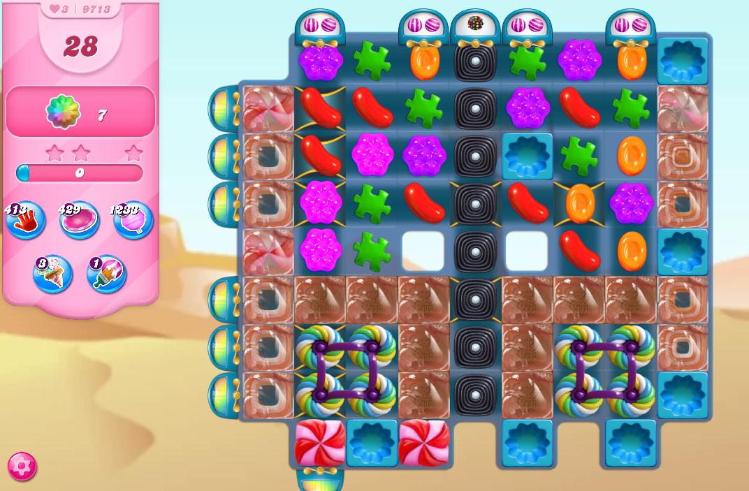 Candy Crush Saga level 9713