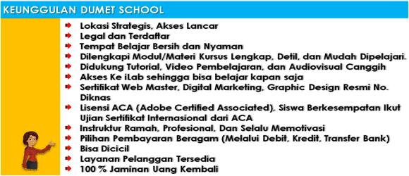 Kursus Desain Grafis dan Internet Marketing Jakarta, Depok, Tangerang