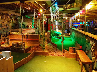 On New Year's Eve 2018 we played the 18-hole indoor Roxy Golf course at Roxy Ball Room in Manchester