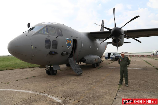 Romanian C-27J firefighting Greece