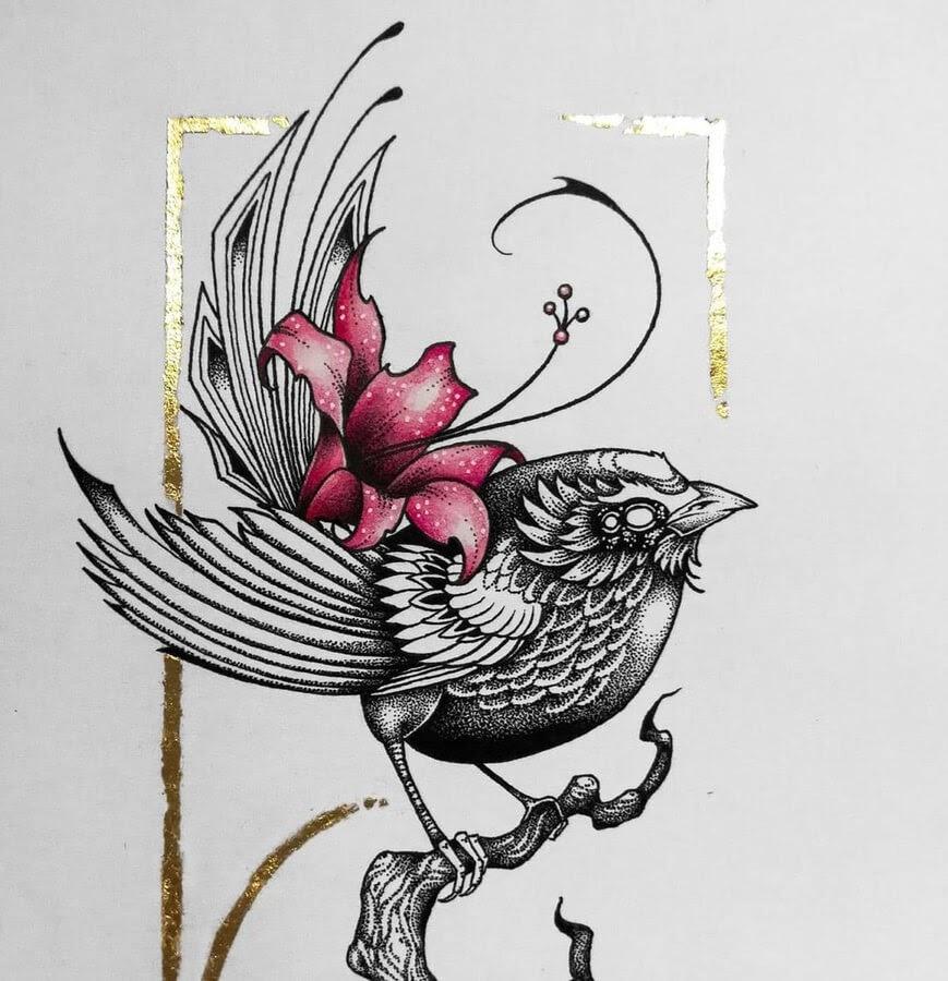 10-Bird-with-gold-trim-Zakrii-www-designstack-co