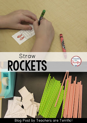 STEM Challenge: Design and build a straw rocket! More easy challenges featured on this blog post!