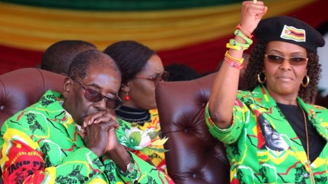 Zimbabwe's Robert Mugabe urged by first lady to name heir