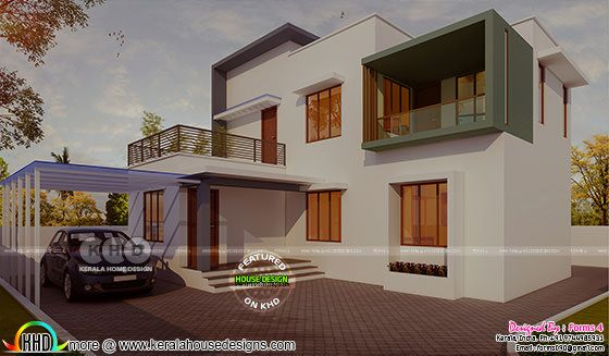 Simple contemporary ₹17 lakhs cost house