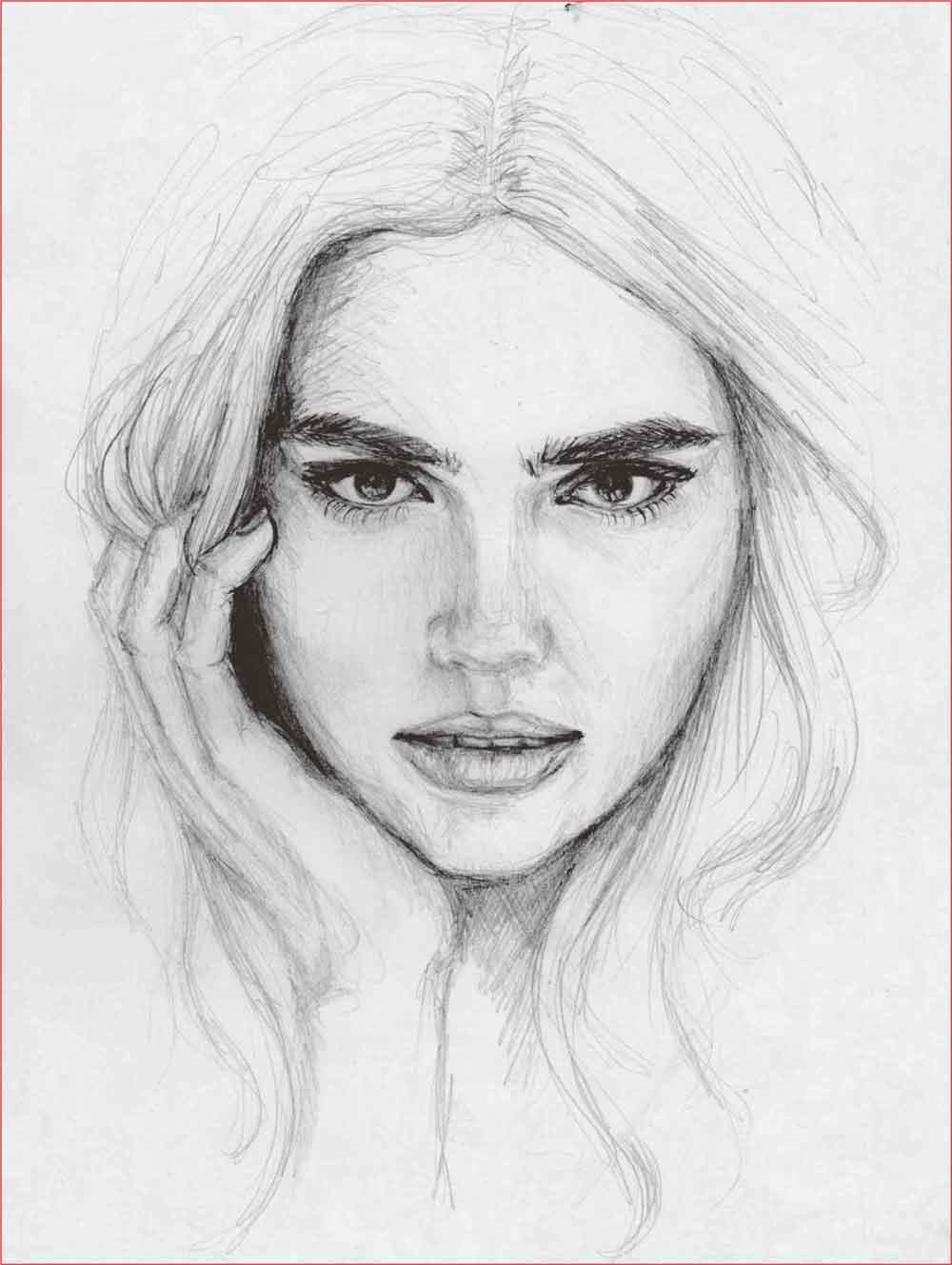 Gambar Lukisan Wajah Manusia