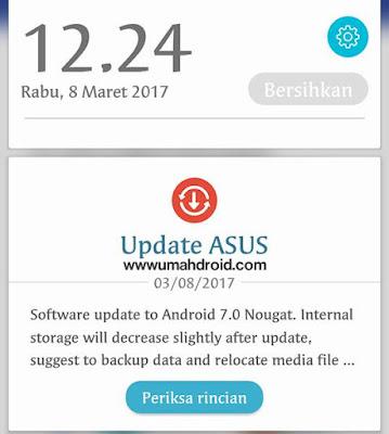 Update Android Nougat resmi didistribusikan  Download Firmware Asus Zenfone 3 Android Nougat WW 14+.2015++.1701.8