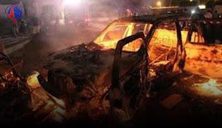 القوات الأمنية تفجر سيارة مفخخة حاولت الدخول الى  محافظة كربلاء من الأنبار