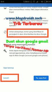 Cara membuat akun google tanpa verifikasi no telepon