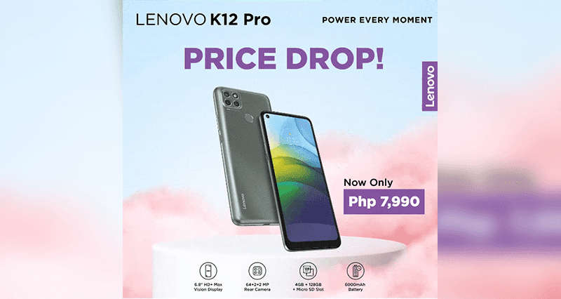 Deal: Lenovo K12 Pro gets price cut—now priced at PHP 7,990