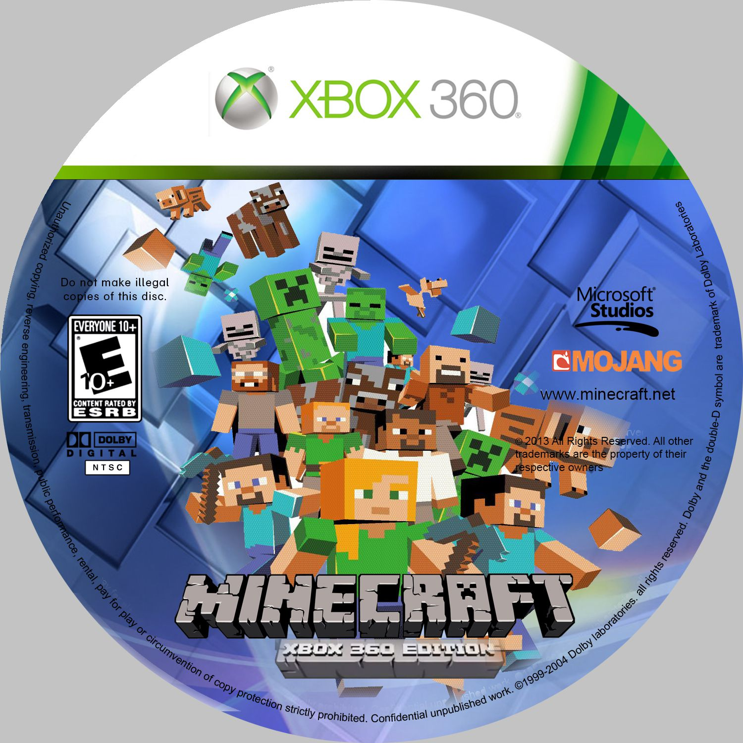 Comprar Jogos Ps 2 Xbox 360 Dvd Xbox360 Playstation 2 Ps2: Label Minecraft Xbox 360 Edition - Gamecover