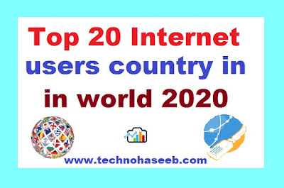 Top 20 Internet Users Countries in 2020