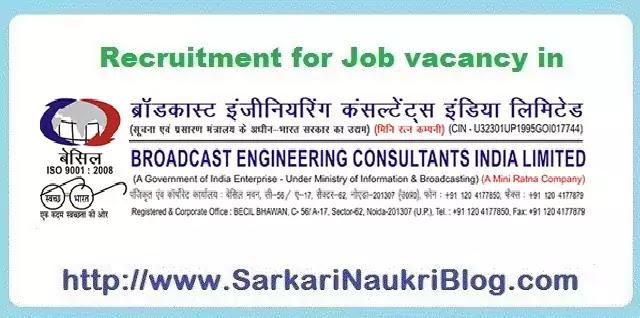 Sarkari Naukri Vacancy Recruitment BECIL