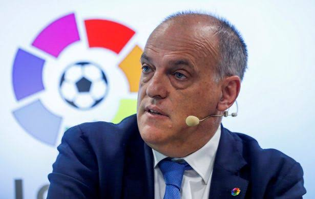 Man City to take legal action against LaLiga president Tebas over European ban comment