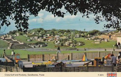 Crazy Golf and Rockery, Sandbanks, Poole. P.2674 Dennis Productions Postcard. Postally used. Date unknown
