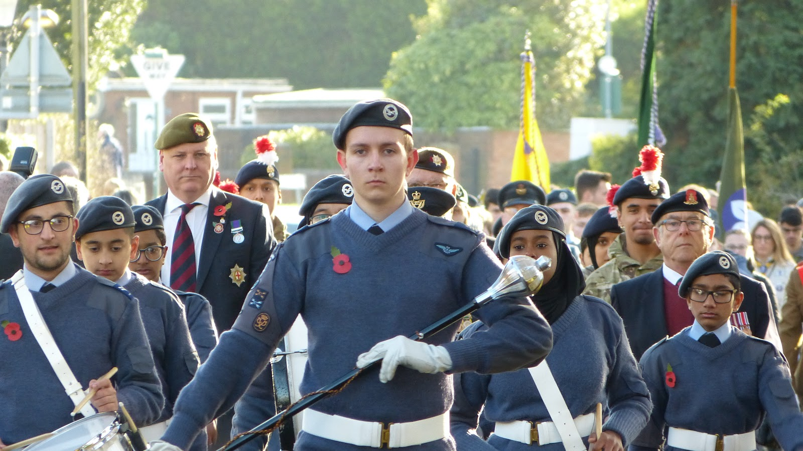 Remembrance parade 2019 in Castle Bromwich