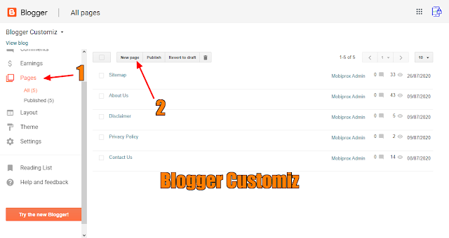 How to create a stylish sitemap page for your Blogger site or blog