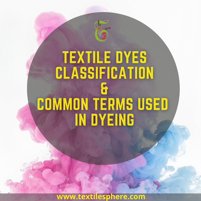 Textile Dyeing- Common terms used and Dyes classification