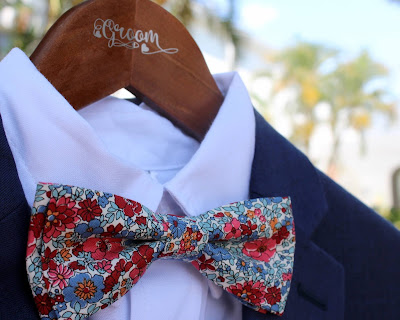 Because I'm Me mens floral Liberty cotton bow tie for groom