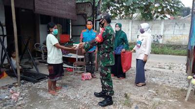 Kodim 0506/Tgr Antarkan 500 Bungkus Makan Sahur Siap Saji