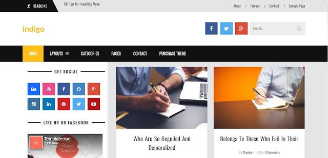 Indigo Blogger Template