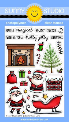 Sunny Studio Stamps: Santa Claus Lane 4x6 Photopolymer Clear Holiday Christmas Stamp Set