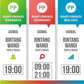 Jadwal Bintang Wangi Trans Travel Banyuwangi Surabaya Malang Denpasar