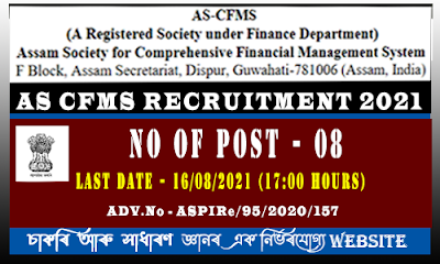 AS-CFMS Recruitment 2021(8 Posts)