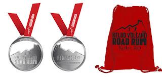 Medali dan Tas Kelud Volcano Road Run 2016 Kediri Jawa Timur Gunung kelud