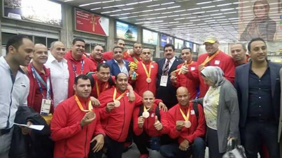 وصول بعثة أبطال منتخب مصر البارالمبيه مطار القاهره