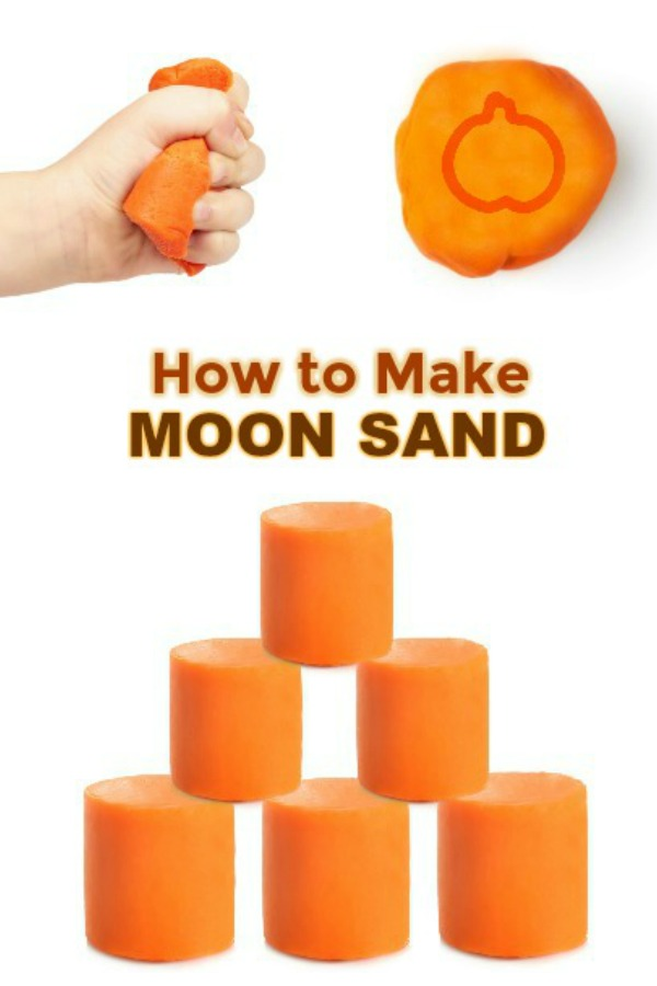 MOON SAND: the coolest play material ever! A must try! (Easy recipe) #moonsand #moonsandrecipe #pumpkinmoonsand #howtomakemoonsand