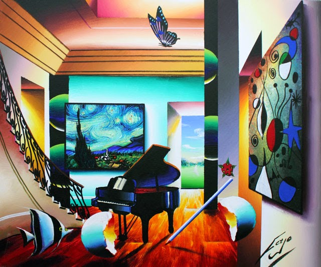 Música com as Estrelas - Ferjo e suas pinturas ~ O artista da pintura dentro de outra