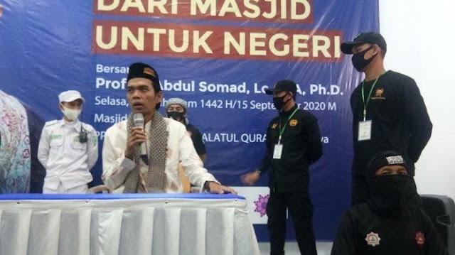 Pasca Penusukan Syekh Ali Jaber, Ustadz Abdul Somad Dikawal Ketat Saat Berceramah di Tasikmalaya