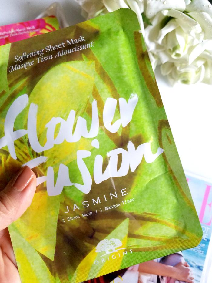 Review: ORIGINS - Flower Fusion Sheet Masks - Softening Sheet Mask Jasmine - Madame Keke Luxury Beauty Lifestyle Blog