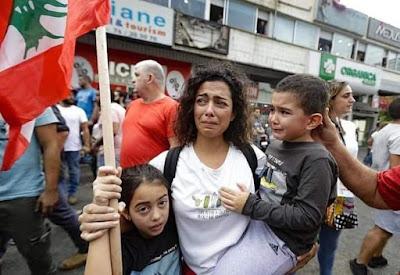 Lebanese woman protester