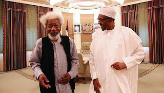 Prof wole soyinka attacks buhari for lagos and ogun states lockdown in corona virus war