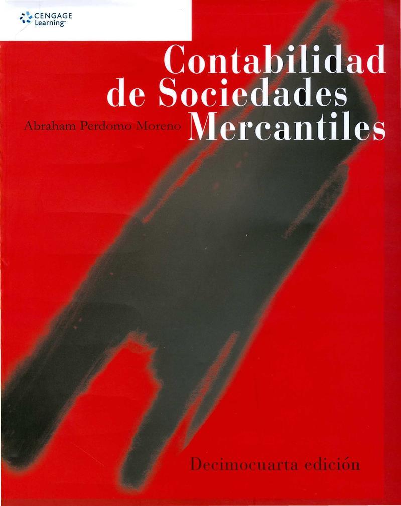 Contabilidad de sociedades mercantiles, 14va Edición – Abraham Perdomo Moreno