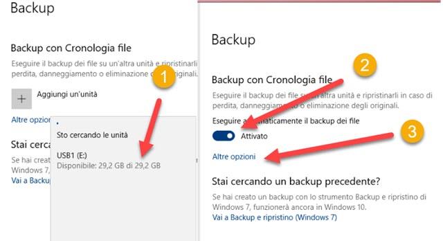 attivare la cronologia dei file con Windows
