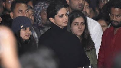 Before Chhapaak release Deepika Padukone Visits JNU Campus and meet with injured students