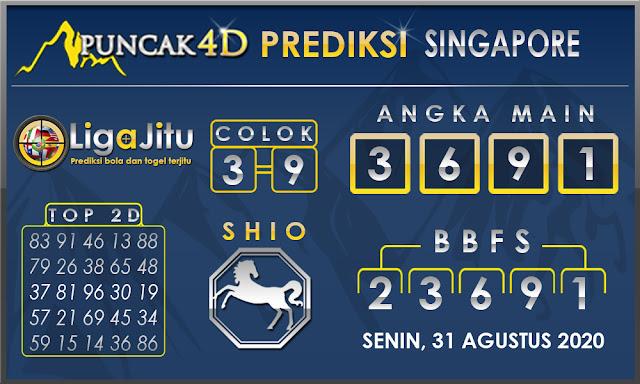 PREDIKSI TOGEL SINGAPORE PUNCAK4D 31 AGUSTUS 2020