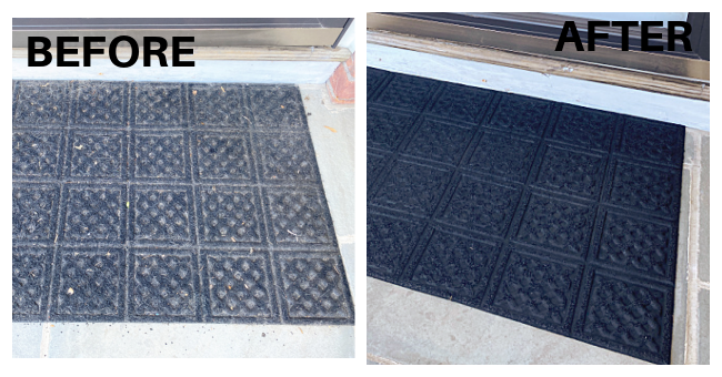 before and after welcome mat