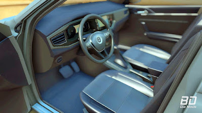 Download do mod Volkswagen Polo 2019 para o jogo GTA San Andreas PC interior