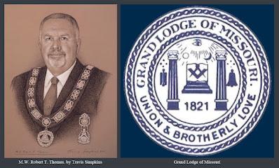 M.W. Robert T. Thomas. Past Grand Master. Grand Lodge of Missouri. by Travis Simpkins