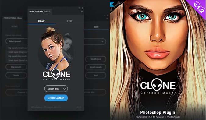 Cartoon Maker Clone Photoshop Plugin