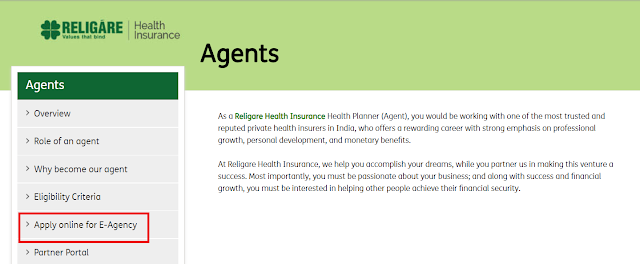 How to make Carrier with Religare Health Insurance as Policy Adviser